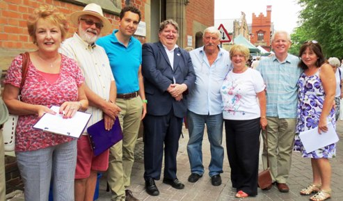 """Hands off Wistaston"" campaigners gain petition support in Nantwich"