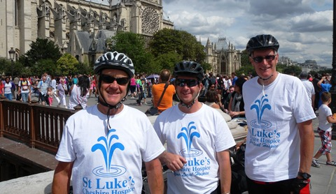 Trio of Nantwich cyclists complete London to Paris ride