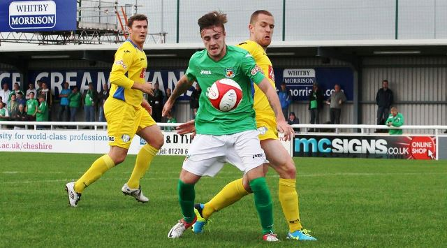 Harrop shines as Nantwich Town beat Rushall Olympic 3-2