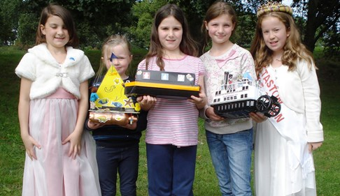 Best designed childrens model boat (l-r) - Poppy - Chloe - Charlotte - Natalie - Naomi