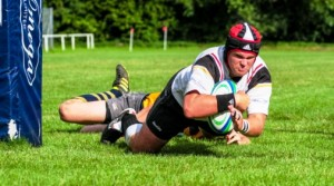 Crewe & Nantwich RUFC player Dave Germain, captain against Leek