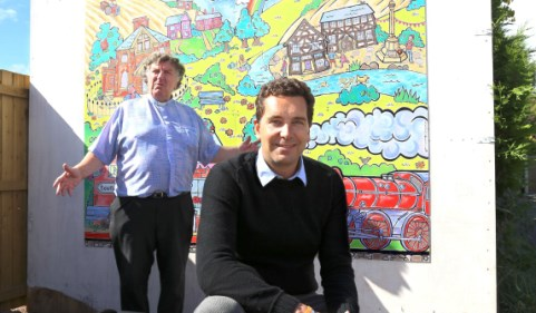 MP Edward Timpson unveils Nantwich miniature railway mural