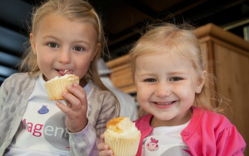 Youngsters enjoying Nantwich Food and Drink Festival