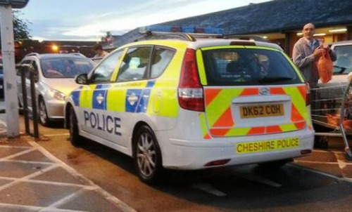 Cheshire Police probe officers who parked in mum and toddler bay