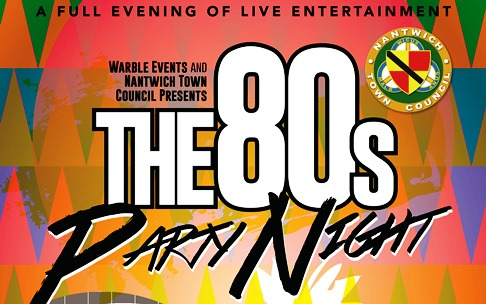 80s poster for Nantwich civic hall