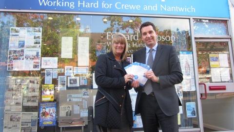 Nantwich MP Edward Timpson backs St Luke's Hospice campaign