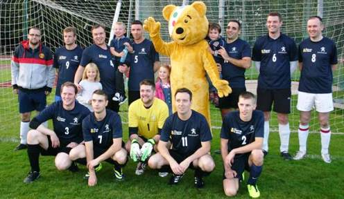 South Cheshire companies stage Children in Need football match