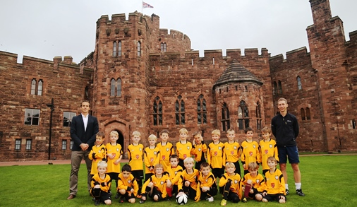 Peckforton Castle near Nantwich helps kit out boys' football teams