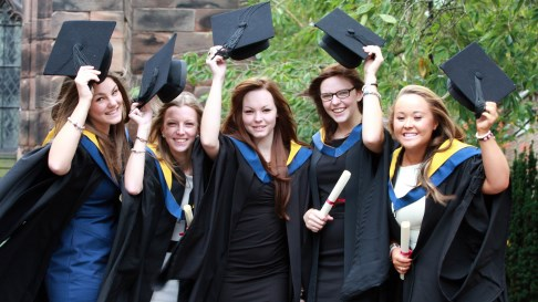 Reaseheath College students celebrate graduation in Nantwich