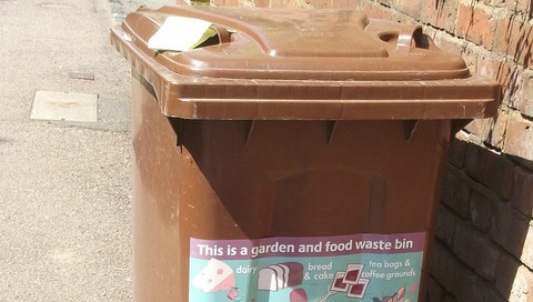 green garden waste bins (pic by Elliot Brown, Flickr creative commons)