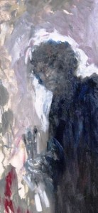 Alan Leese - Black Portrait  85x50  cm  Oil on Canvas