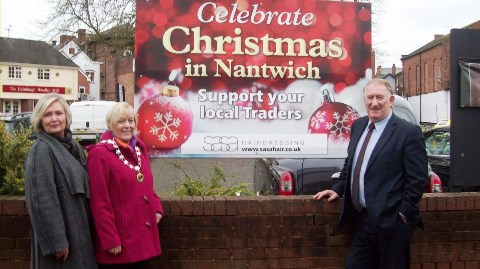 Christmas boards unveiled across Nantwich promote Lights switch-on