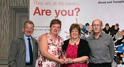 Four Crewe and Nantwich blood donors honoured for saving lives