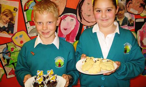 Nantwich primary pupils bake Children in Need treats to raise £165