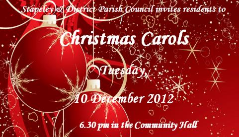 Christmas carol concert planned for Stapeley, Nantwich