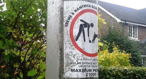 dog fouling warning posters in nantwich