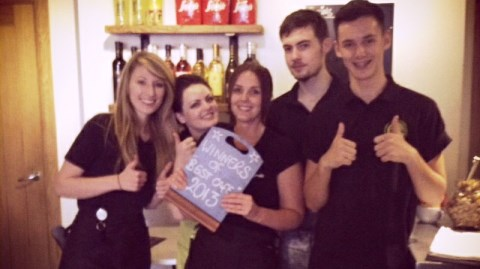 Nantwich coffee shop Enzo earns Dining Out Award prize