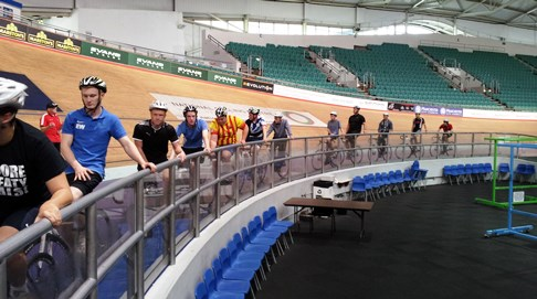 Nantwich sports students meet Team GB cycling stars at Velodrome