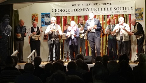 South Cheshire George Formby Ukulele Society performs in Wistaston