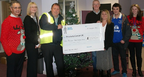 Boughey staff donate to Prostate Cancer UK