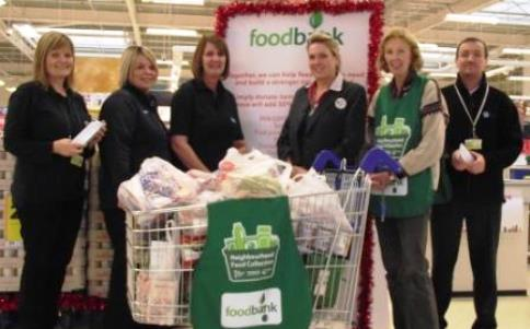Wulvern Housing staff help out to collect for Nantwich Foodbank