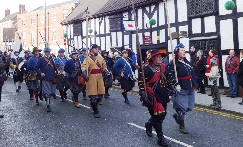 "Pic special: Thousands enjoy ""Battle of Nantwich"" despite storms"