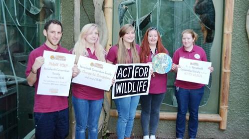 Conservation Society Dylan Gagas, Jess Britton, Charlotte Daniels, Rachel Bowles, Harley Merrigan