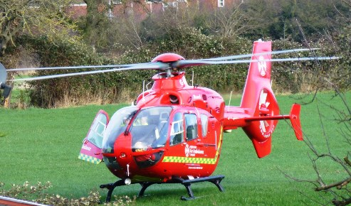Police and air ambulance attend Nantwich incident at Bishops Wood