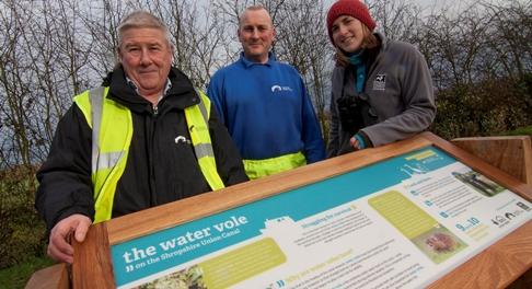 Cheshire Wildlife Trust unveils water vole info point on Nantwich canal
