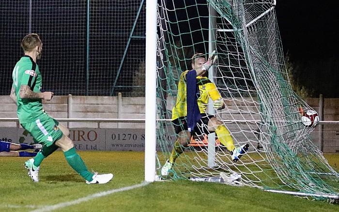 2nd goal - low cross is turned home by Steve Jones