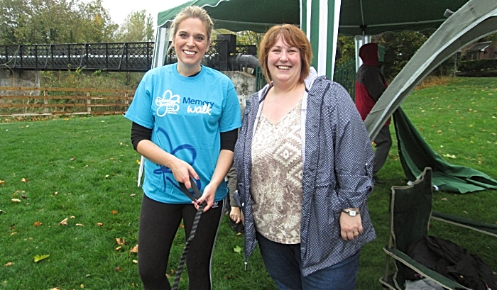 Laura Smith MP and Dawn Sime; co-owner of Home Instead Senior Care Crewe - Memory Walk