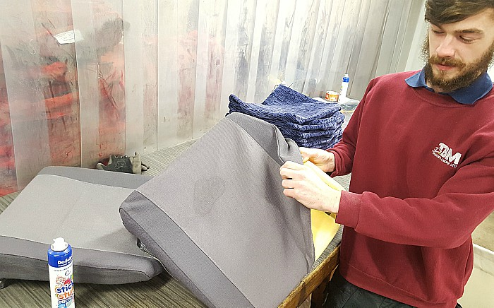 3-TBM Rail assessing seat covers for GWRIEP