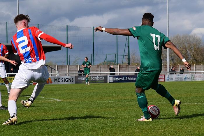 3rd goal - Osebi Abadaki prepares to shoot