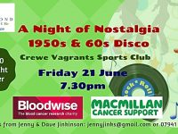 Charity 50s/60s disco to be held at Crewe Vagrants