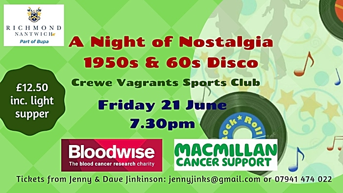 50s 60s charity disco at Vagrants