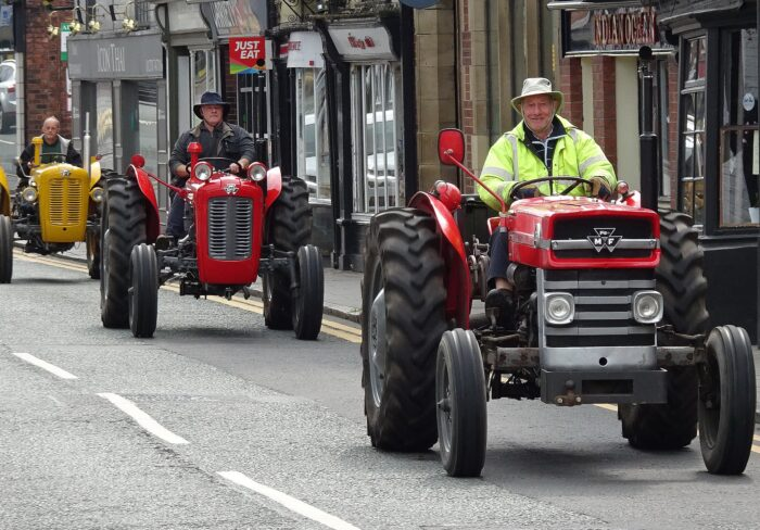 Tractor run nantwich