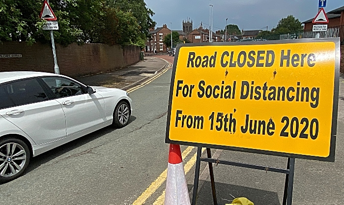 A car enters Pillory Street on 15th June 2020 despite the signage (1)