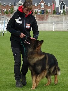 A competitor with her German Shepherd dog (1)