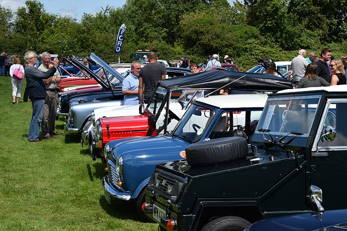 A section of the classic and vintage car display