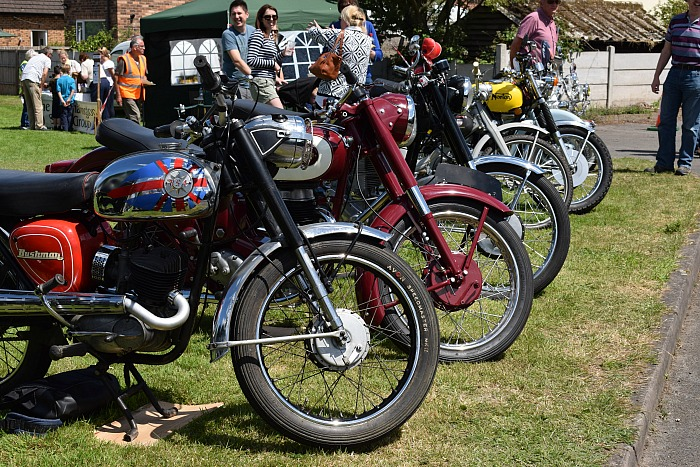 A section of the classic motorbike display