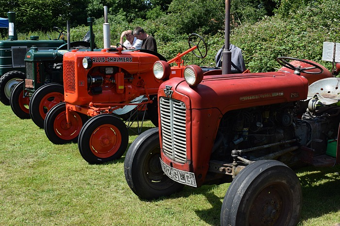 A section of the classic tractors