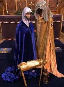 A section of the nativity scene produced by the church's flower arranger, Deana Emerton (1)
