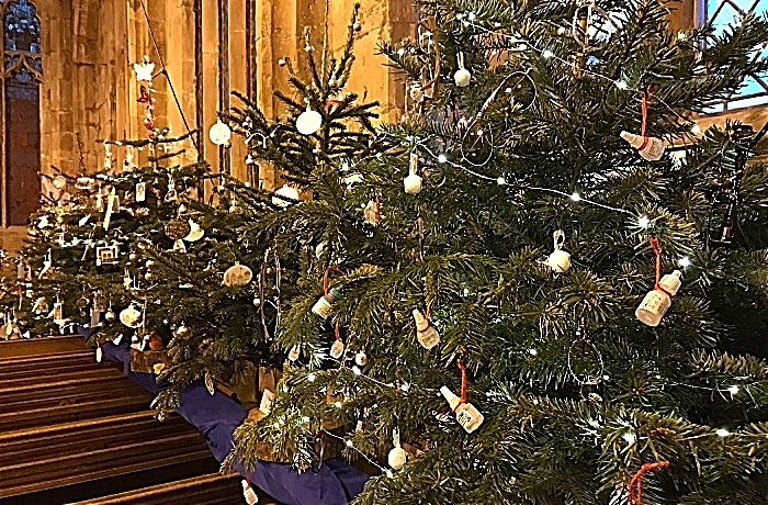 Victorian festival - A selection of the Christmas trees - sponsored and decorated by parishioners (1)