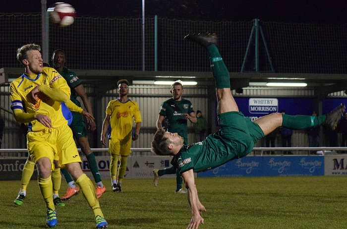 A spectacular overhead kick from Josh Hancock was saved by Matlock goalkeeper Phil Barnes