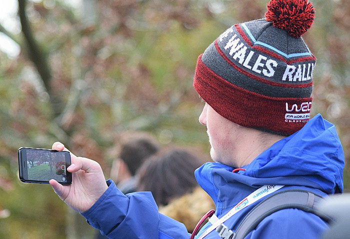 A spectator watches Stage 14 of Dayinsure Wales Rally GB