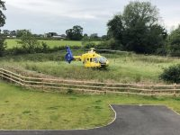 Man injured in building site plunge in Nantwich