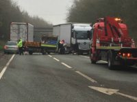 Van driver seriously hurt in A500 crash near Shavington