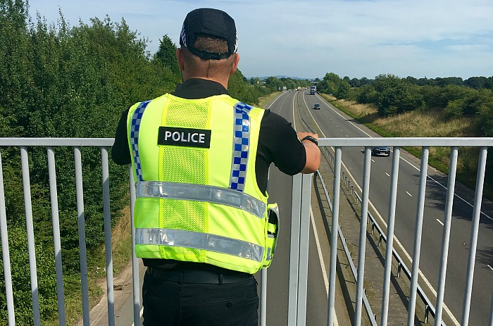 A500 foot bridge at Willaston, police warning over stone throwing youths