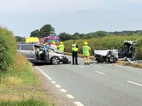 Two-vehicle crash closed A51 at Doddington Lake near Nantwich