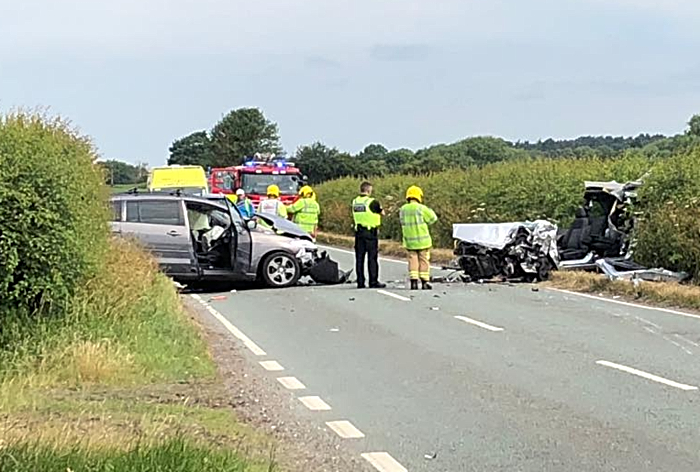 A51 crash at Doddington Lake near Nantwich